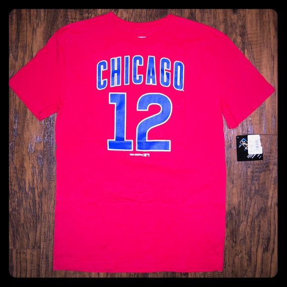 get cheap c6b0a 88577 Chicago Cubs Kyle Schwarber tee NWT